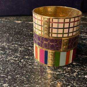 1of3 Coach insignia purple bangle bracelet